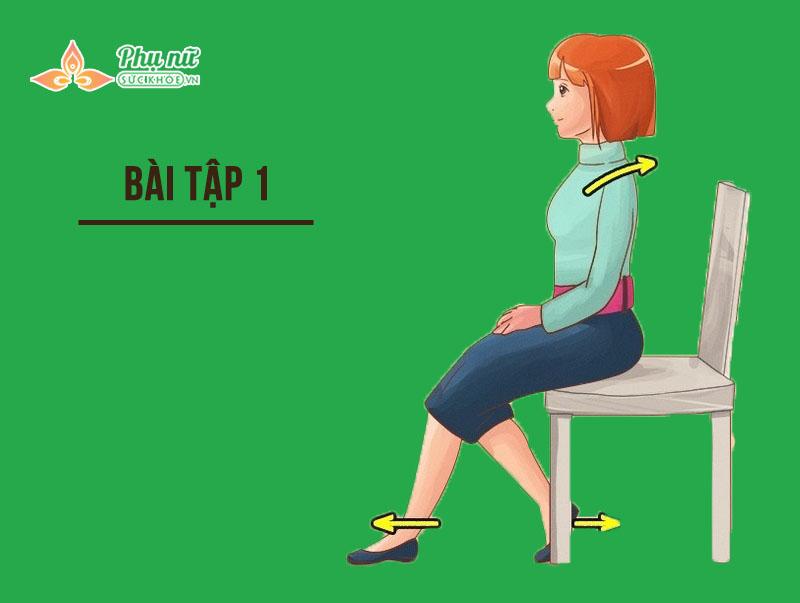 Bài tập giảm béo bụng cho dân văn phòng 1: Lower Body Stretch